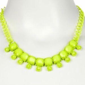 Jewelry - Neon Green Jewel Necklace